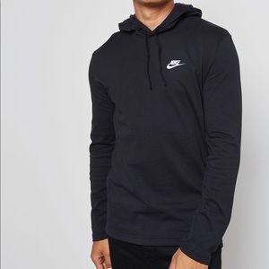 Nike Men's Black Logo Jersey Hoodie